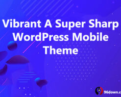 Vibrant A Super Sharp WordPress Mobile Theme