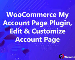WooCommerce My Account Page Plugin, Edit & Customize Account Page