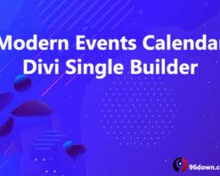 Modern Events Calendar Divi Single Builder